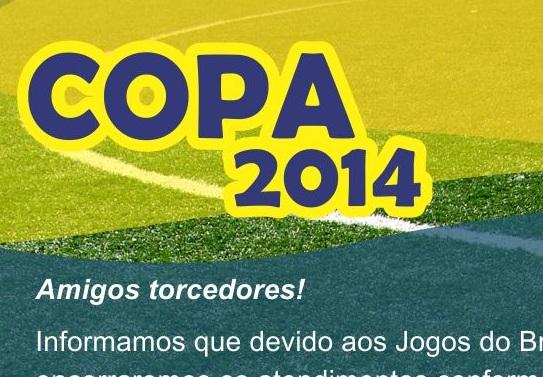 HORARIO DE ATENDIMENTO COPA 2014